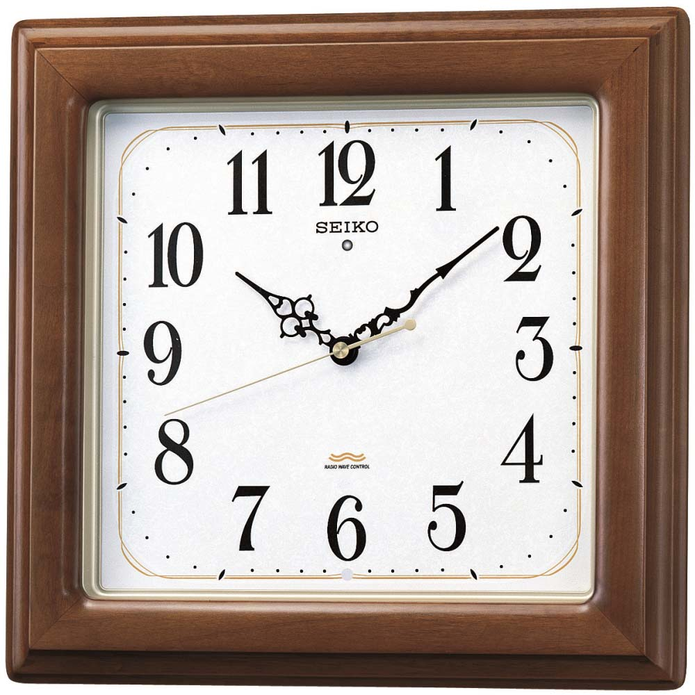 セイコー 電波掛時計 KS298B 茶