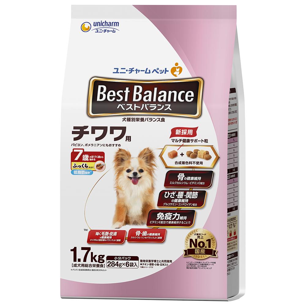 ベストバランス ふっくら仕立て チワワ用 7歳が近づく頃から始める低脂肪設計 1.7kg 〔ドッグフード ソフト〕