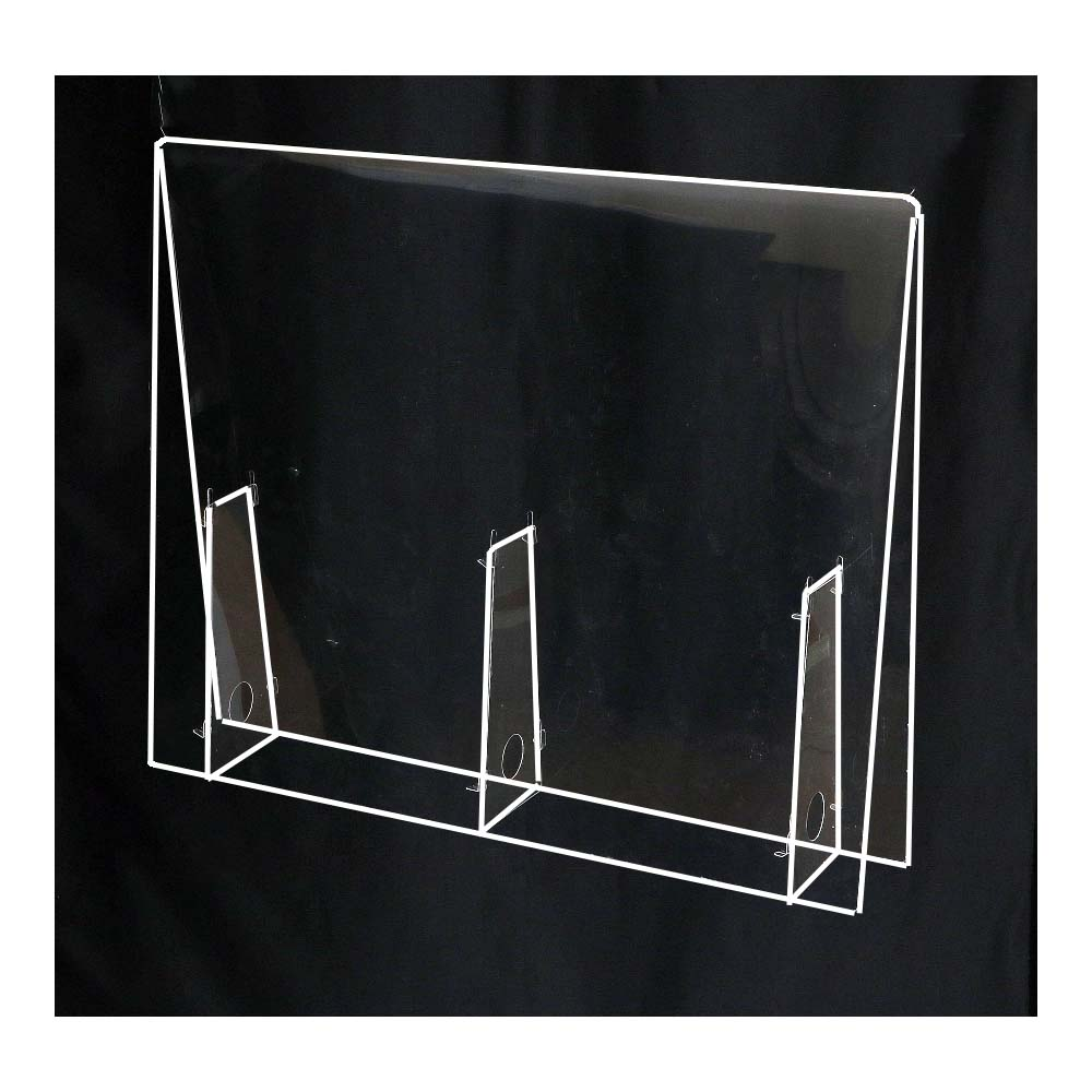 アーテック 飛沫防止パーテーション 小 幅350×高さ500×奥行100mm パネル厚み0.5mm PET樹脂