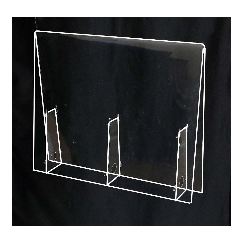 アーテック 飛沫防止パーテーション 中 幅450×高さ500×奥行100mm パネル厚み0.5mm PET樹脂