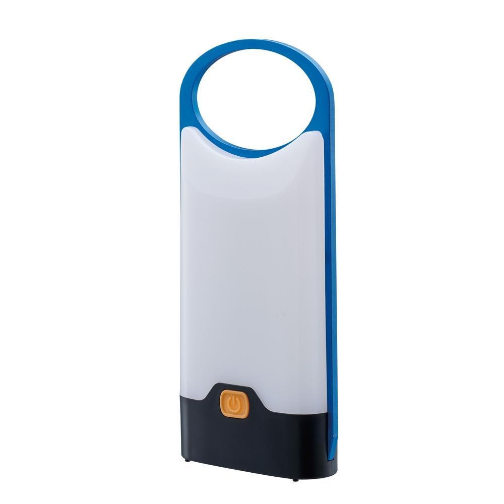 コーナン オリジナル 卓上ランタン ブルー 約幅85X奥行20X高さ200mm BL CH23−3905 ※単4電池X3本使用(別売)
