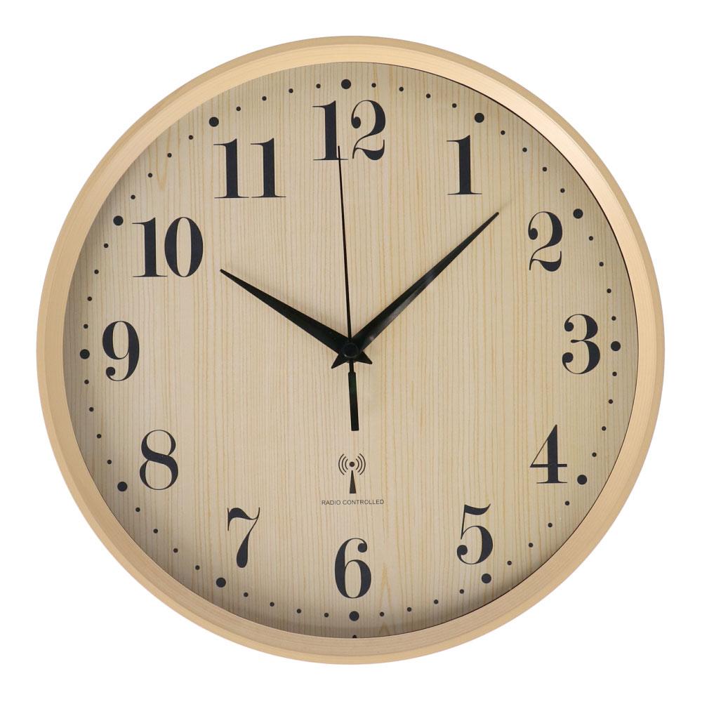 コーナン オリジナル LIFELEX 電波木目調掛時計 FX−5867Q11