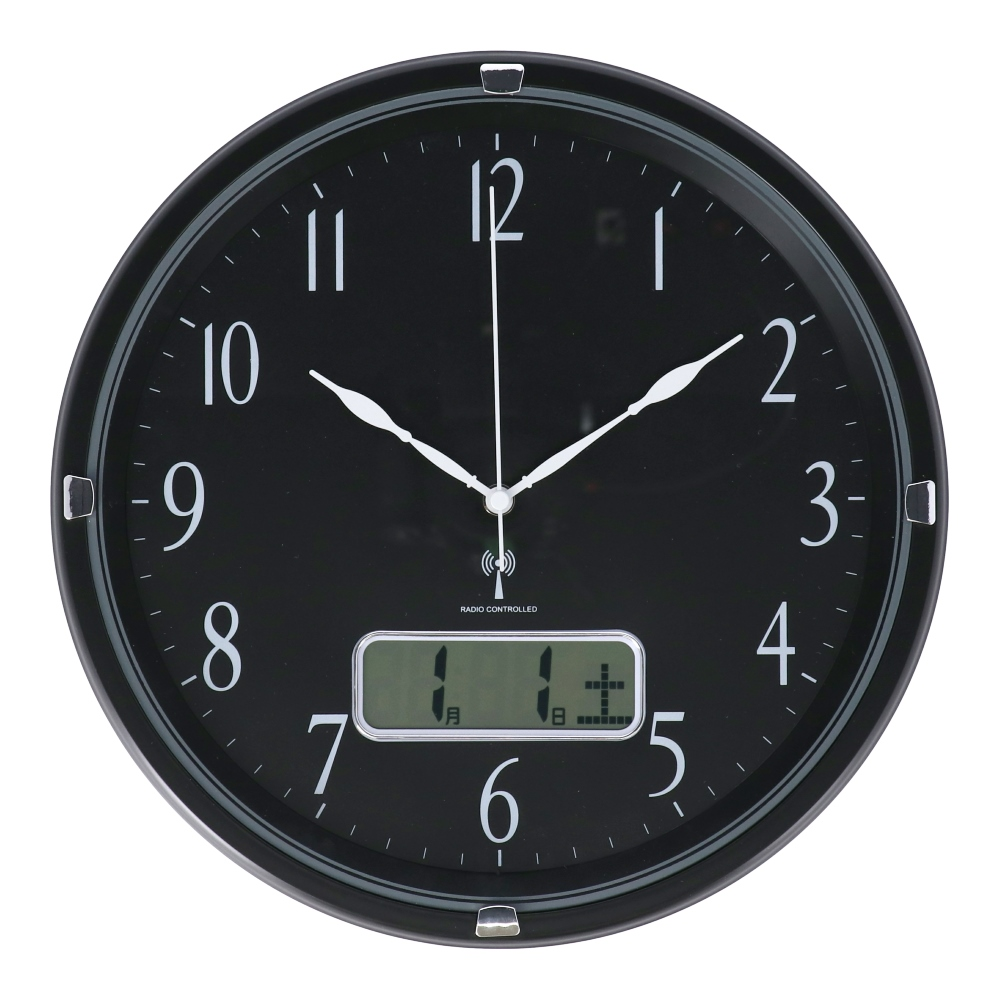 コーナン オリジナル LIFELEX 電波掛時計日付表記付 FX−7844