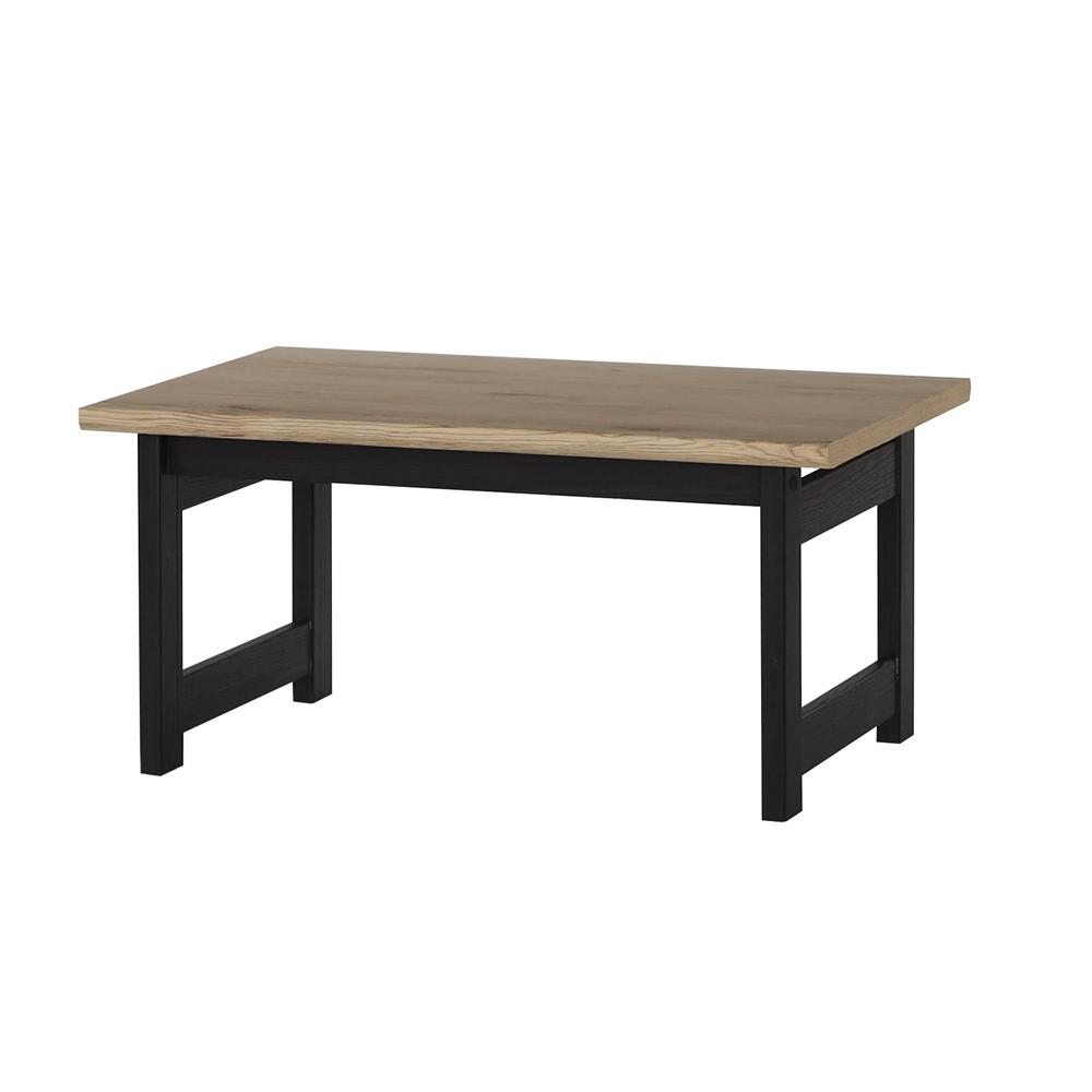 シンプルテーブル 7550 ブラック/ブラウン