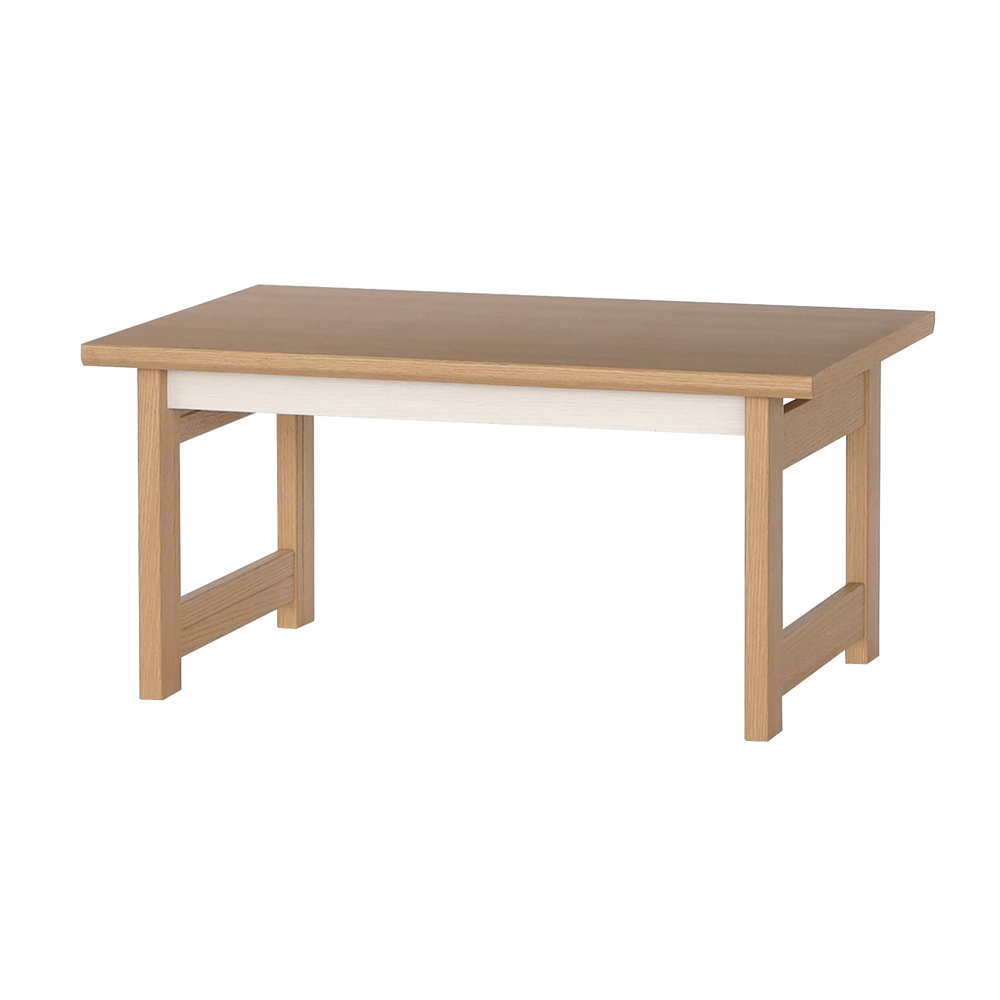 シンプルテーブル 7550 ホワイト/ナチュラル