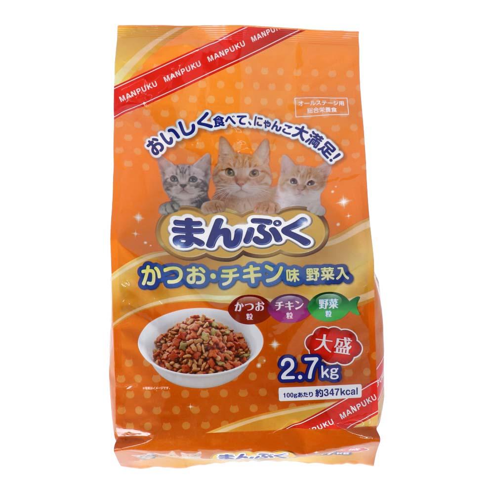 コーナン オリジナル まんぷくドライかつお チキン味・野菜入 2.7kg