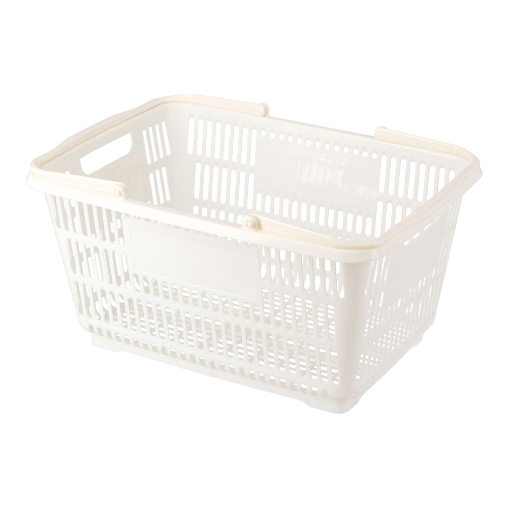 【 めちゃ早便 】☆☆☆ コーナン オリジナル 買い物バスケット ホワイト ZQ21−2593