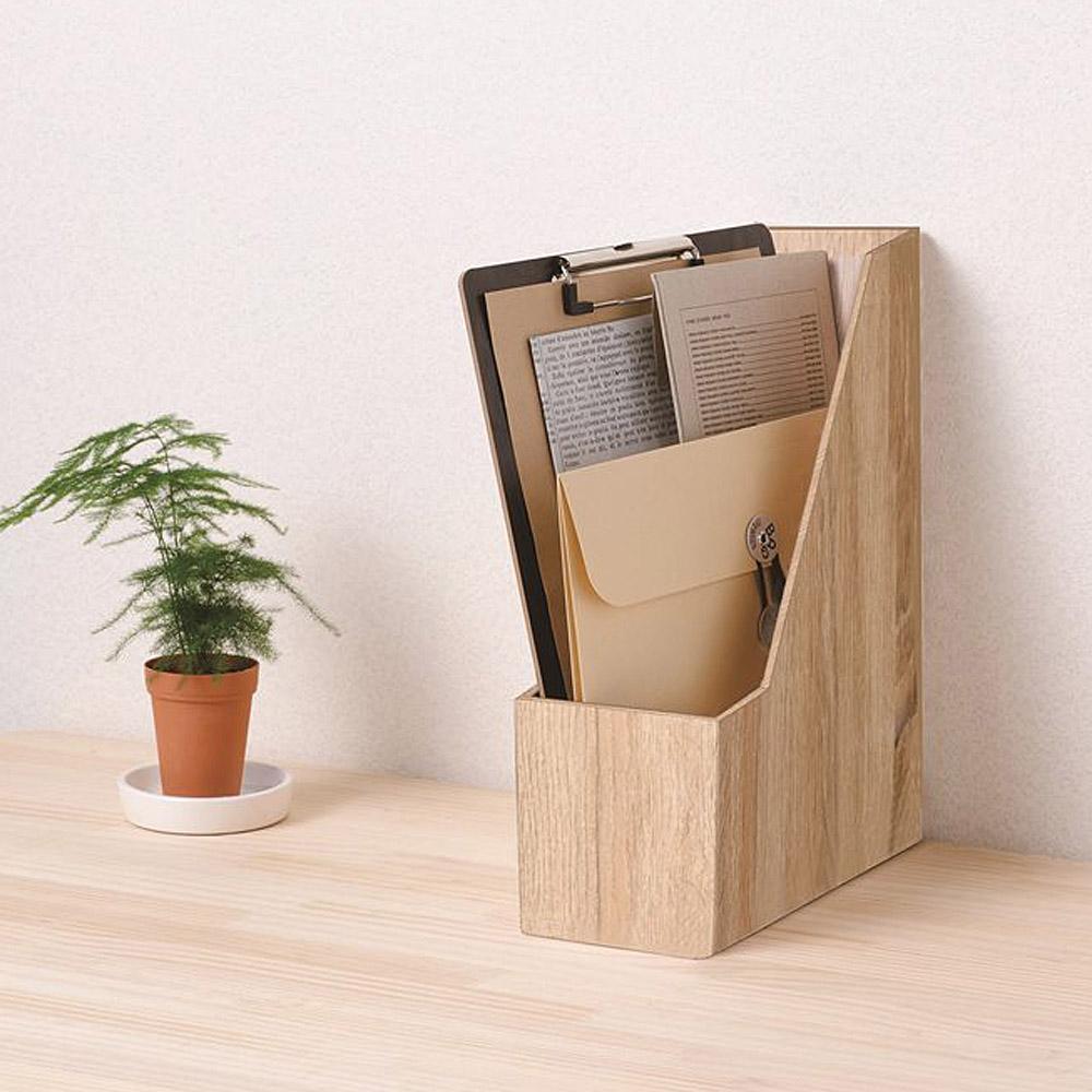 木目調組立式ファイルBOX com170101