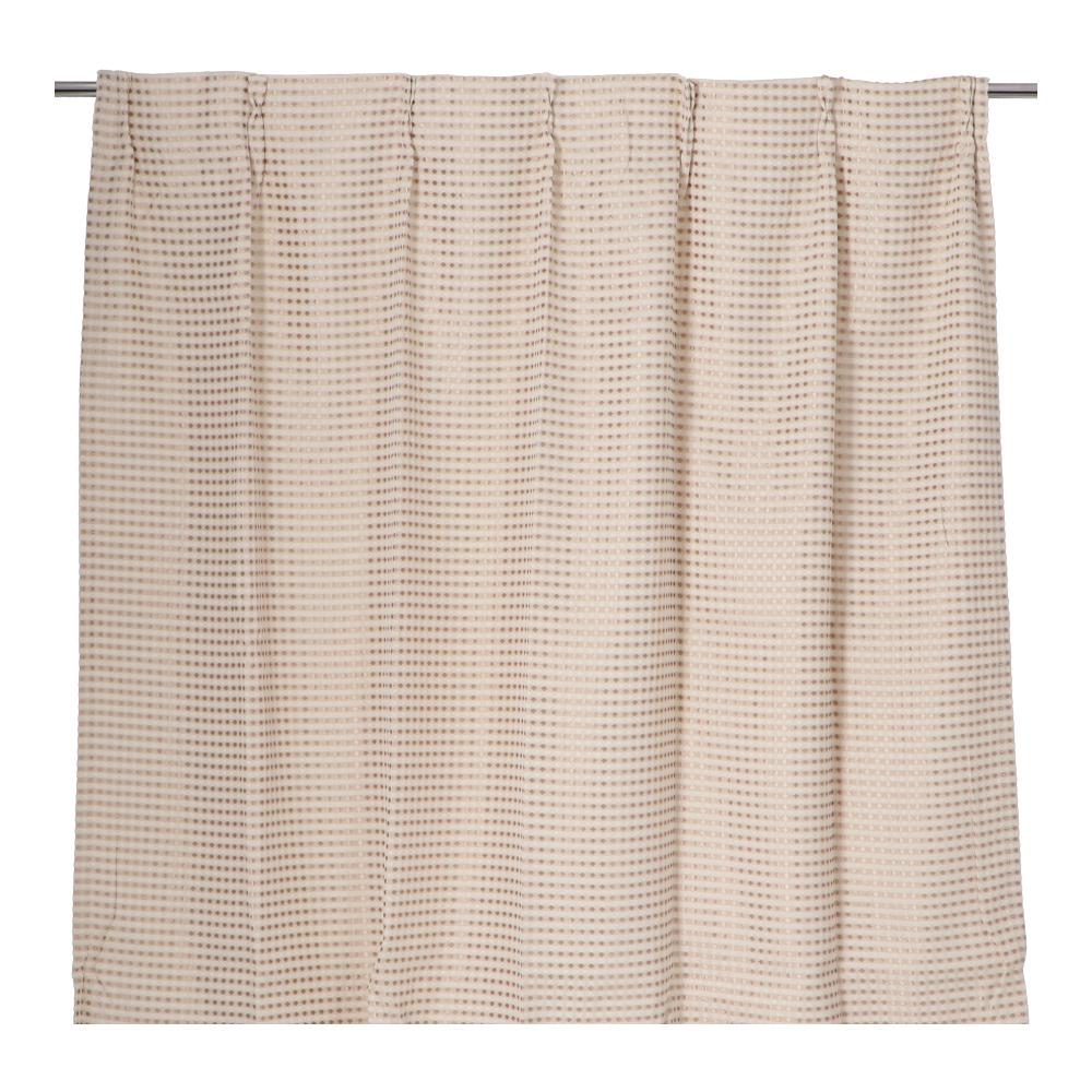 コーナン オリジナル LIFELEX ワッフルカーテン 2枚入 約100×135cm アイボリー
