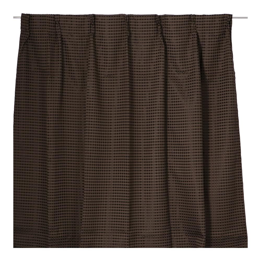コーナン オリジナル LIFELEX ワッフルカーテン 2枚入 約100×135cm ブラウン