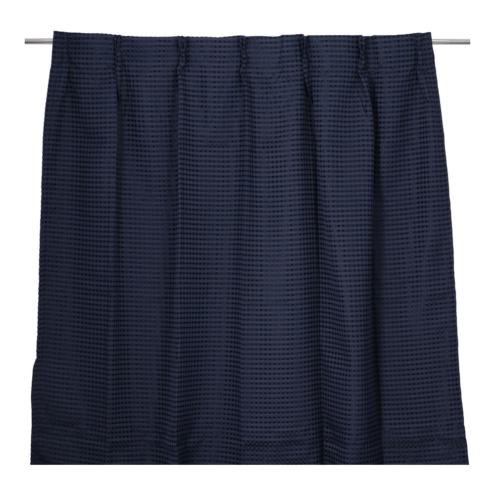 コーナン オリジナル LIFELEX ワッフルカーテン 2枚入 約100×178cm ネイビー