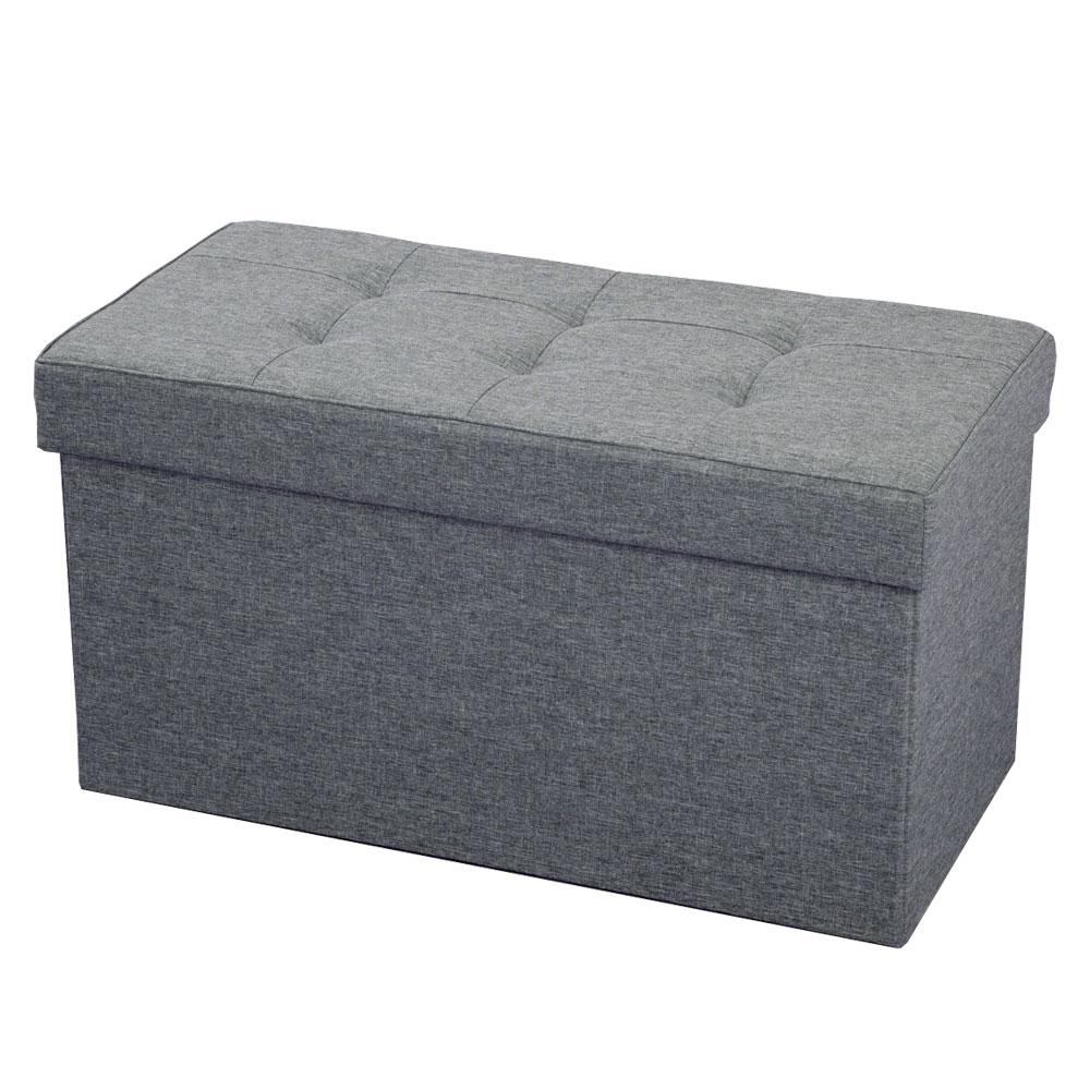 コーナン オリジナル ボックススツールL グレー