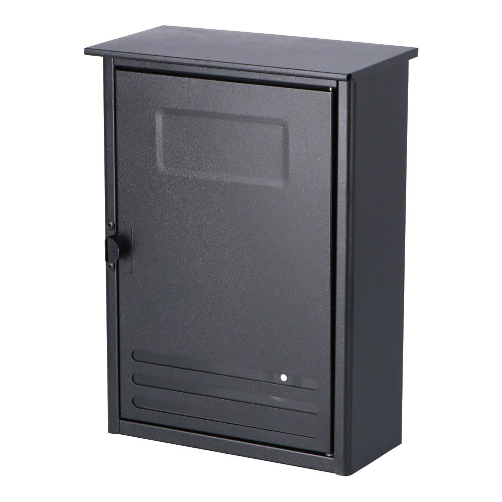 コーナン オリジナル LIFELEX スチール縦型ポスト 黒 LFX03−6940