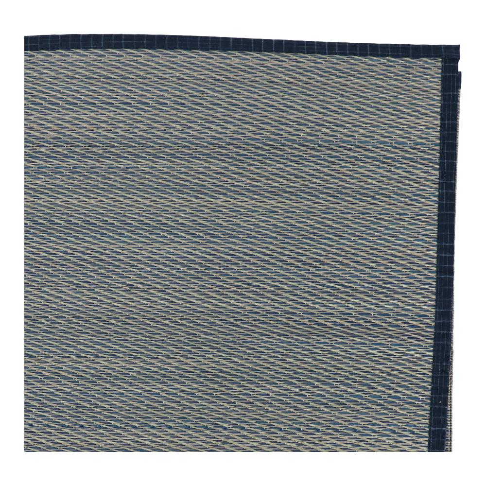 コーナン オリジナル LIFELEX い草ラグ 島唄 約180×180cm ブルー