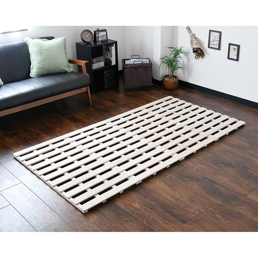 コーナン オリジナル LIFELEX 折り畳み 桐すのこベッド シングル NA