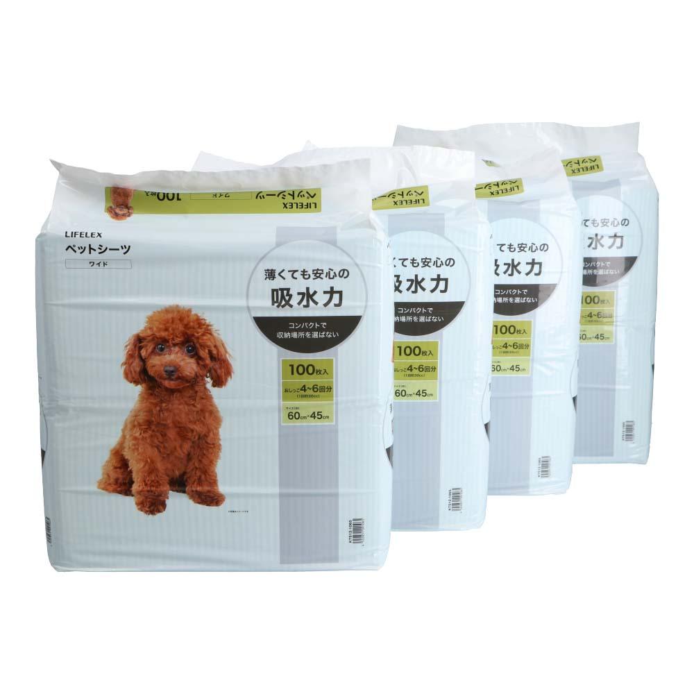 コーナン オリジナル ペットシーツ ワイド 100枚 ×4個セット