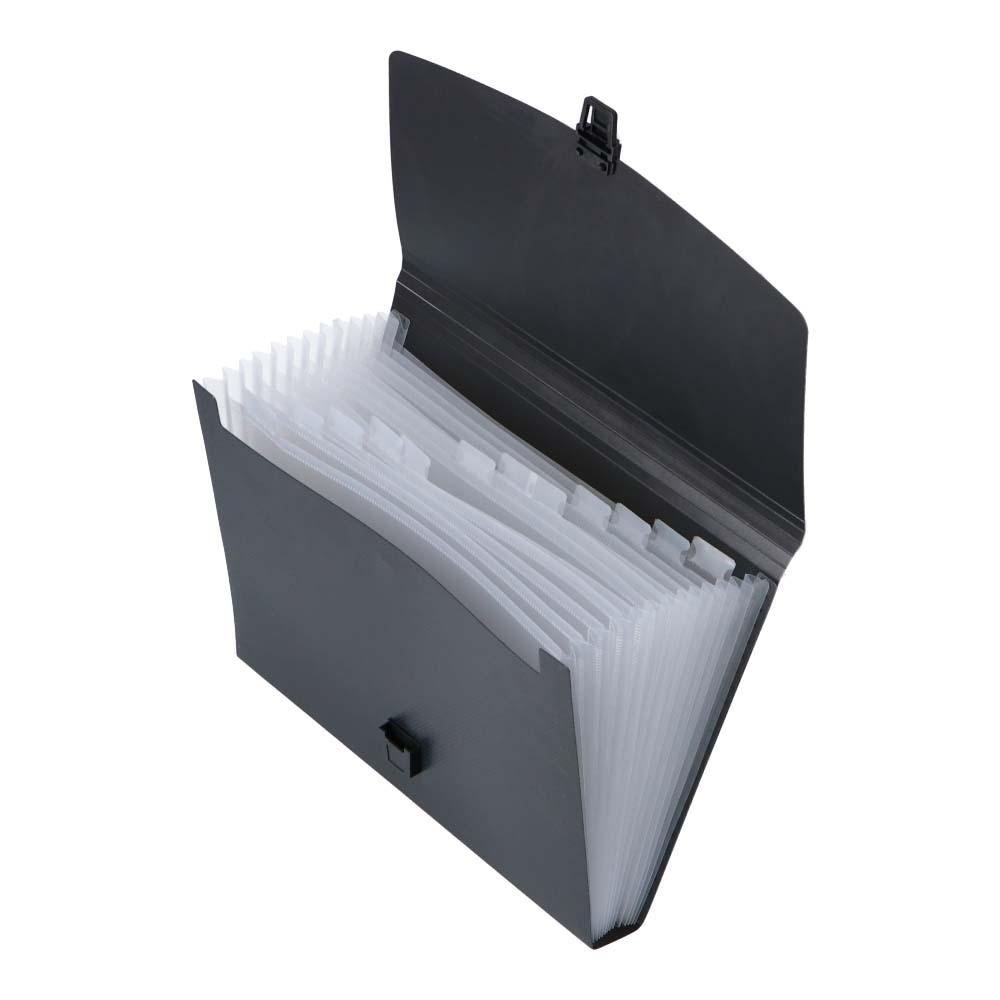 コーナン オリジナル LIFELEX ドキュメントケース12ポケット COMA7613-BK
