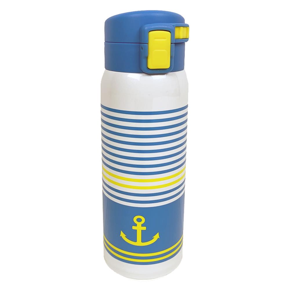 コーナン オリジナル LIFELEX 軽量ボーダーボトル 480ml マリン ステンレス水筒