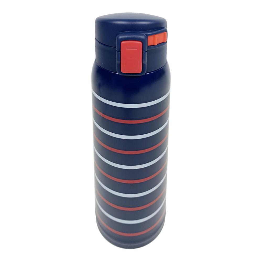 コーナン オリジナル LIFELEX 軽量ボーダーボトル 480ml ネイビー ステンレス水筒