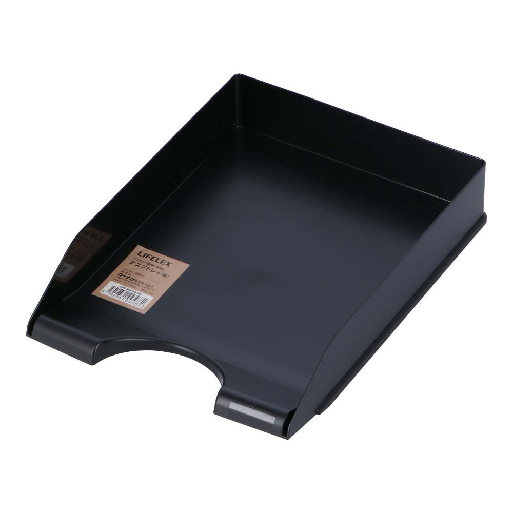 コーナン オリジナル LIFELEX  デスクトレイ 黒 GNC38009−BK
