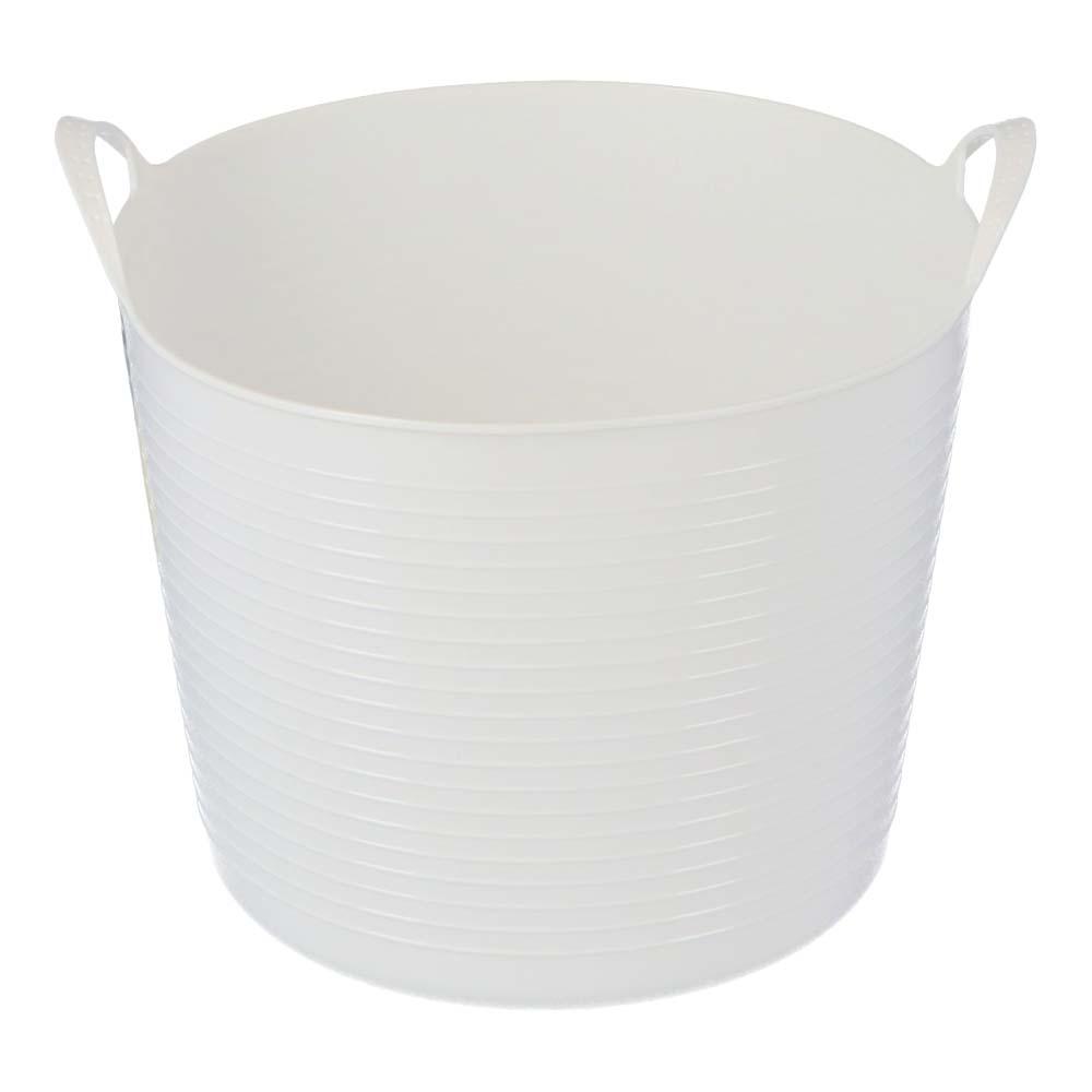 コーナン オリジナル LIFELEX 丸形ランドリー バスケット 26L ホワイト