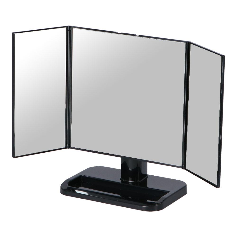 ☆ コーナン オリジナル LIFELEX 卓上三面鏡 ブラック