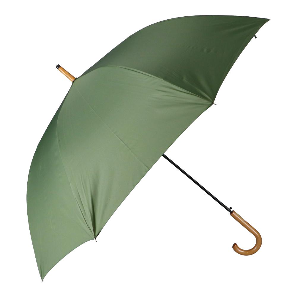 風に強い傘 木柄 75cm KA