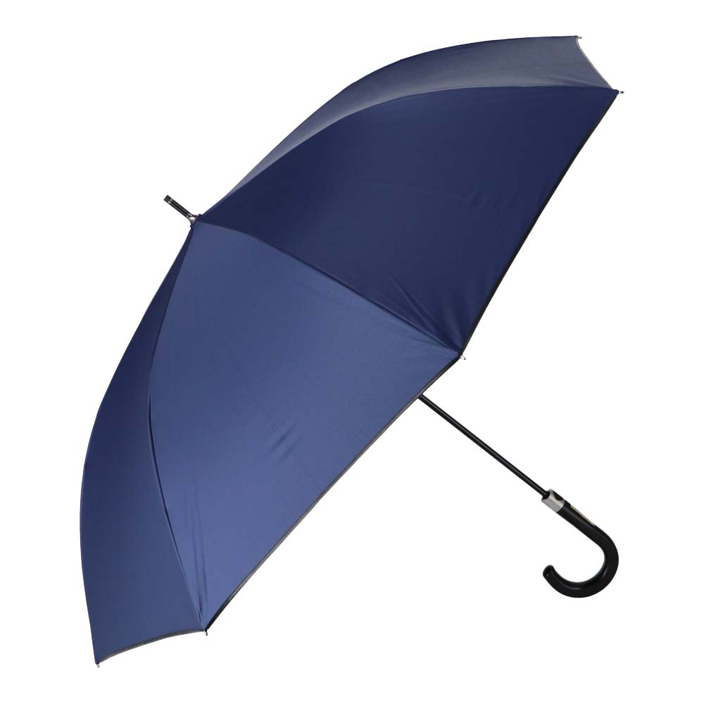 日傘にもなる紳士傘 ブラックコーティング65cm NV