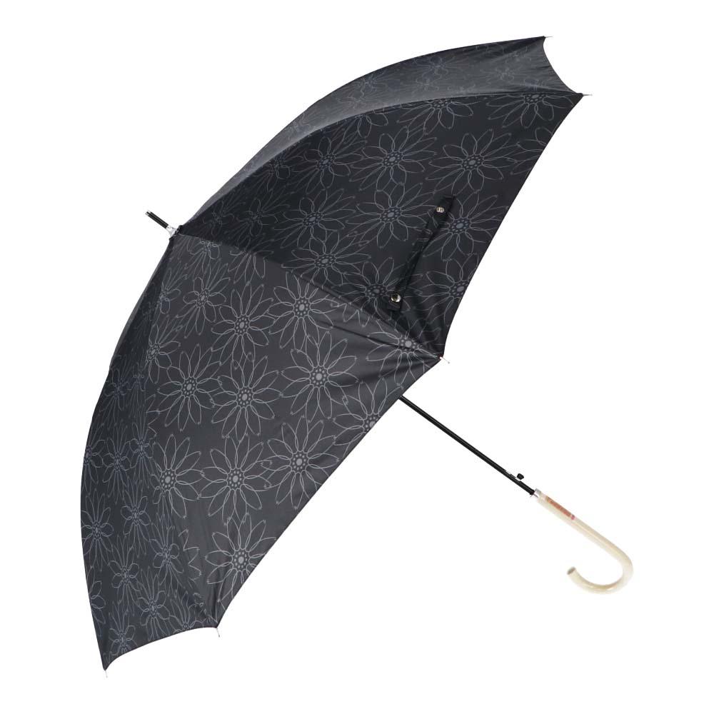 日傘にもなる婦人傘 ブラックコーティング58cm BK