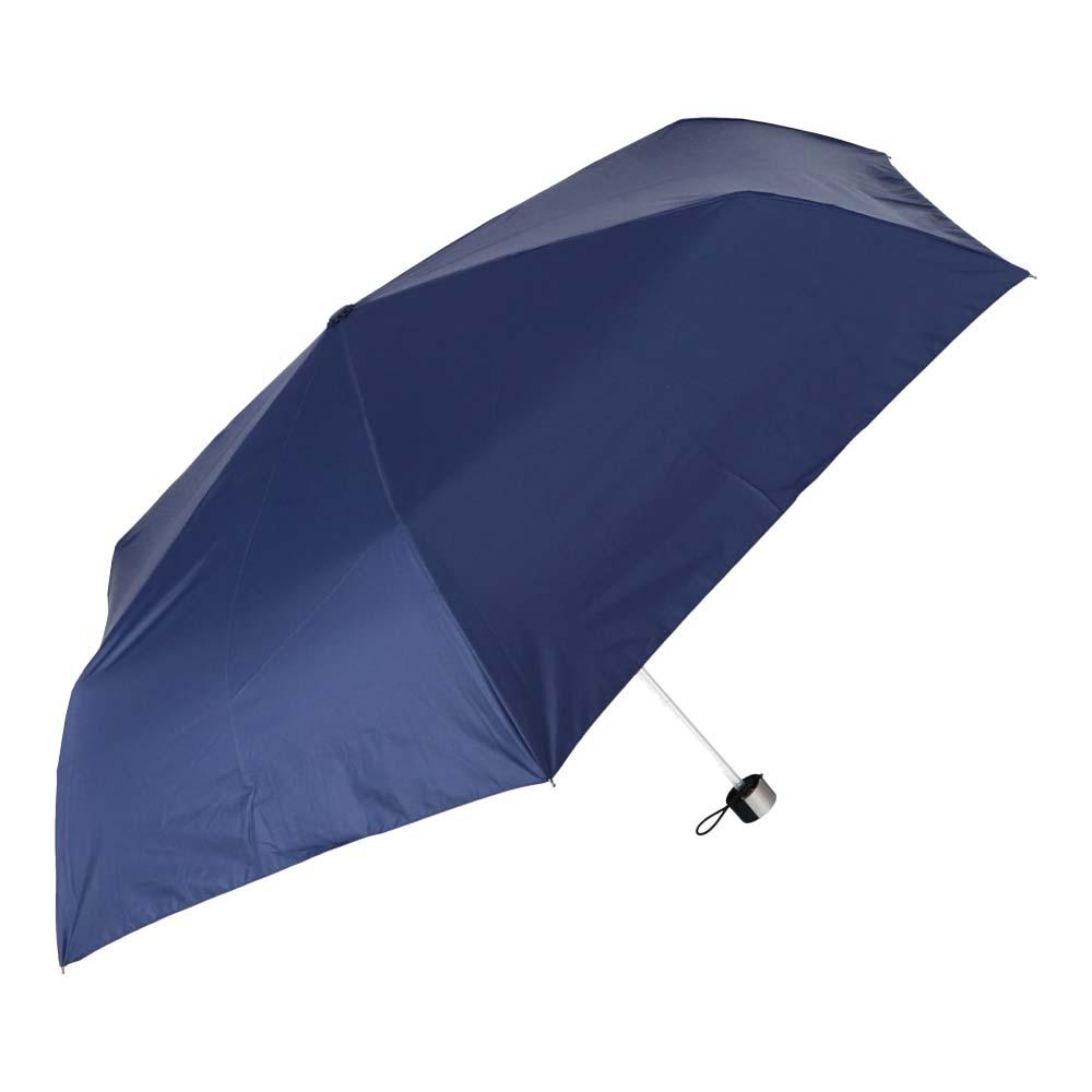 日傘にもなる紳士折傘 ブラックコーティング60cm NV