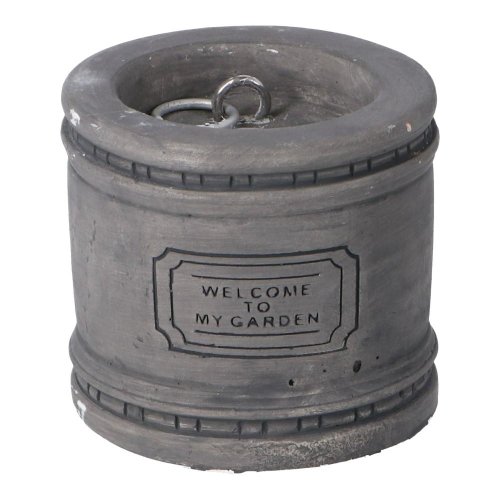 コーナン オリジナル LIFELEX アンティーク調ウェイト ホワイト/グレー 160×160×150