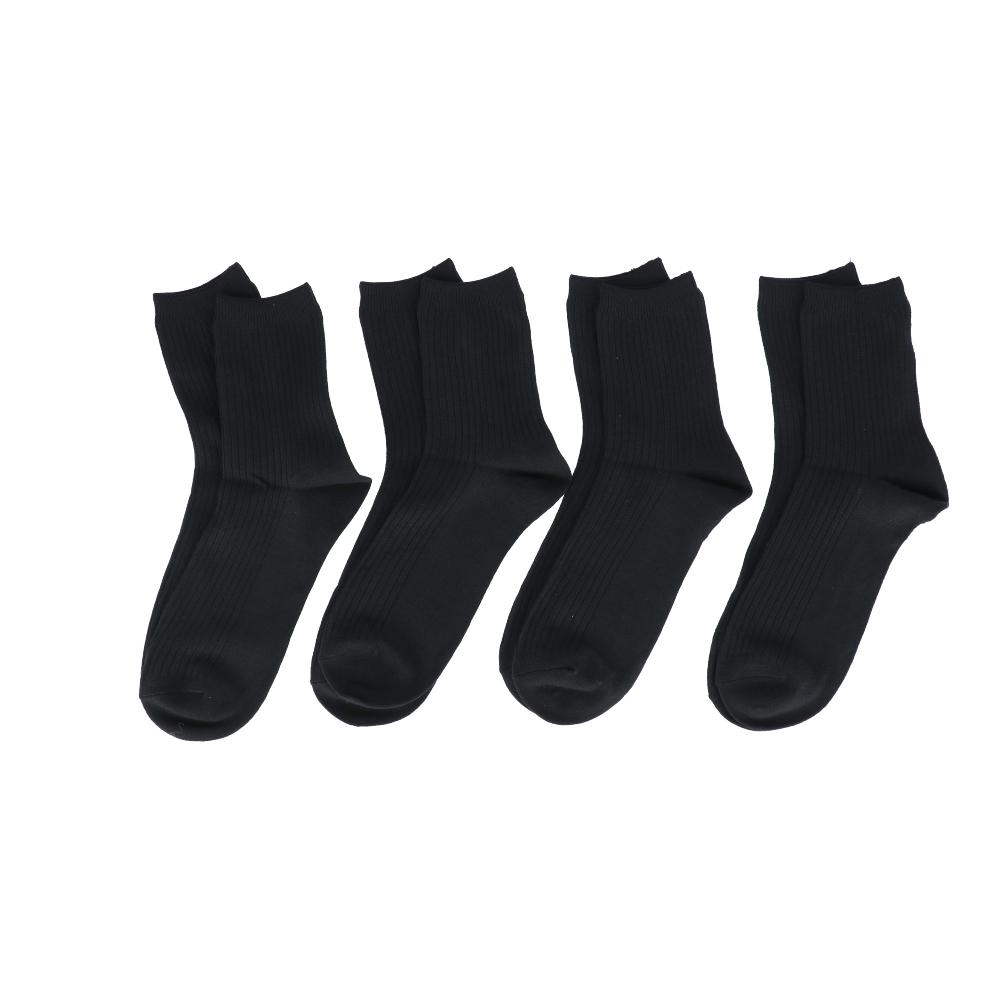 コーナン オリジナル Ag消臭リブ靴下 ショートC ブラック 24〜26cm 4足組