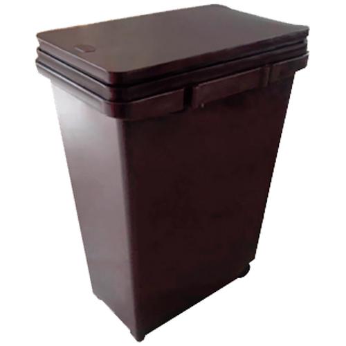 ゴミ箱 分別プッシュペール 20L ブラウン