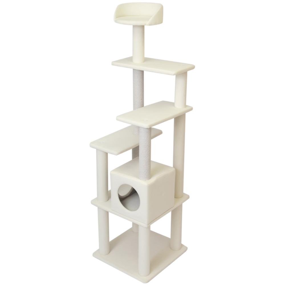 コーナン オリジナル ふわふわ キャットツリー 170cm 猫タワー キャットタワー 玩具 ツリー