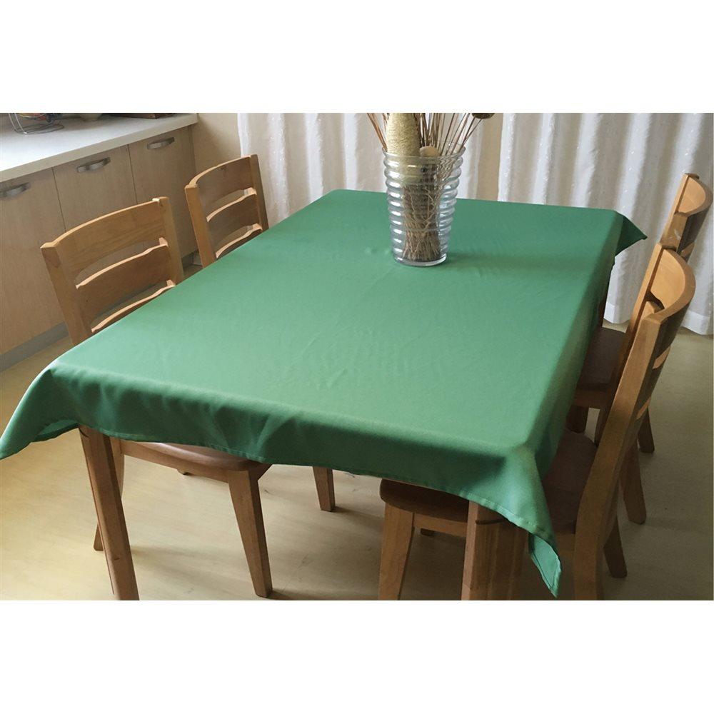 撥水テーブルクロス 約120×150cm グリーン