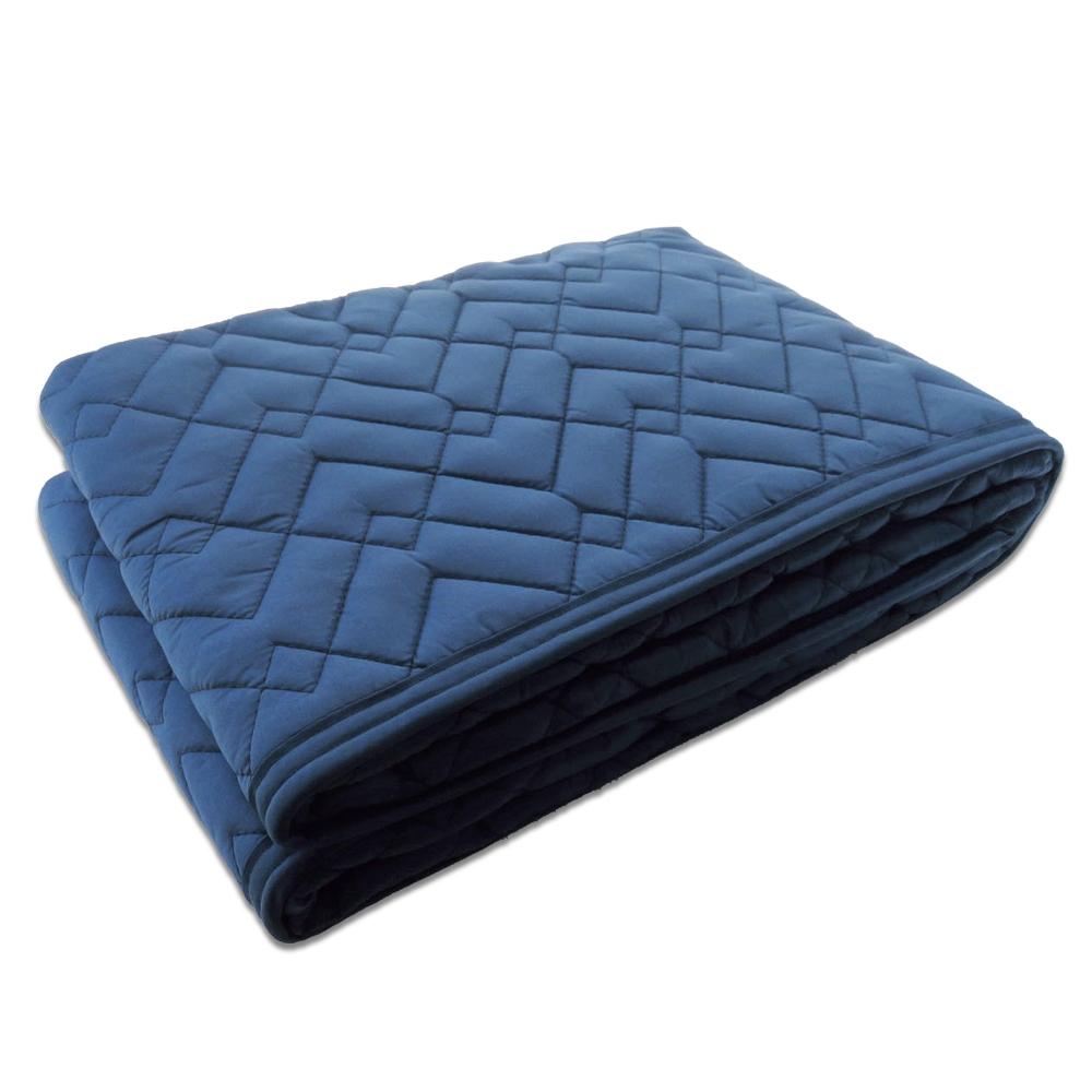 養生用中綿パッド滑止付 ネイビー 約90×180cm