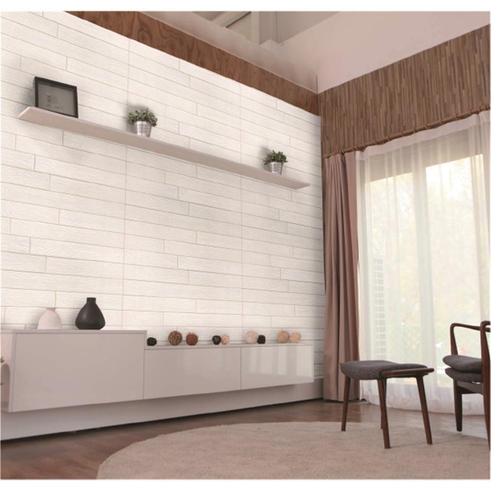 コーナン オリジナル 壁デコパネル木目調  約77×71cm ホワイト