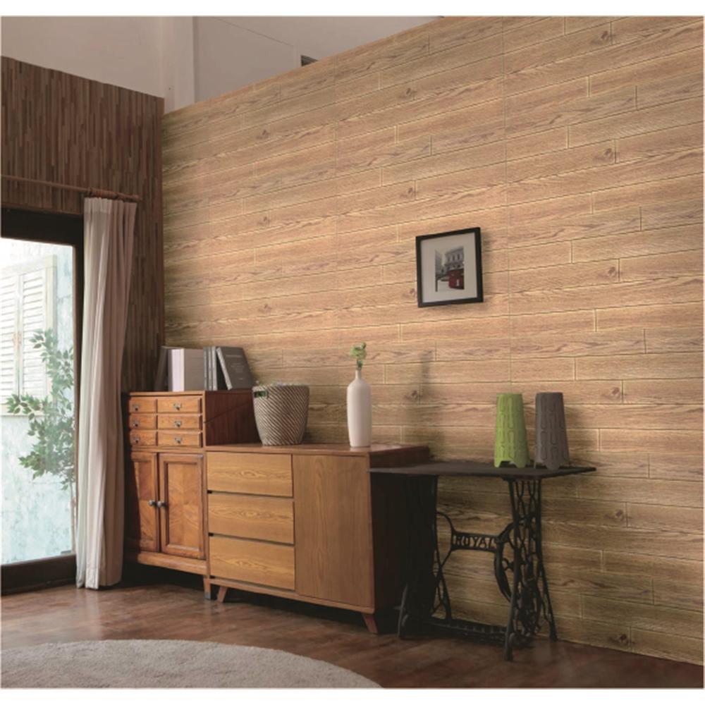 コーナン オリジナル 壁デコパネル木目調 約77×71cm オーク