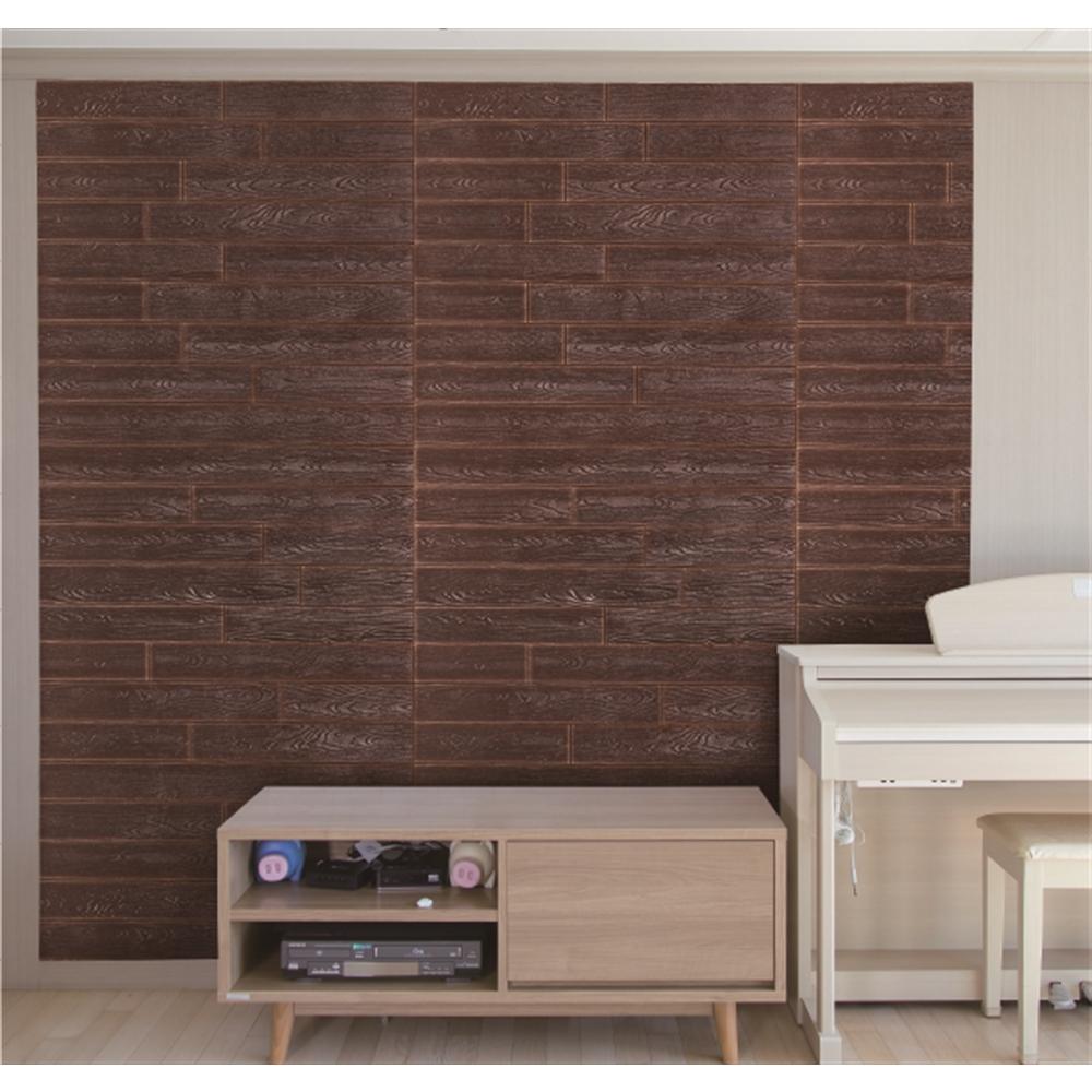 コーナン オリジナル 壁デコパネル木目調 約77×71cm くるみ色(ウォルナット)