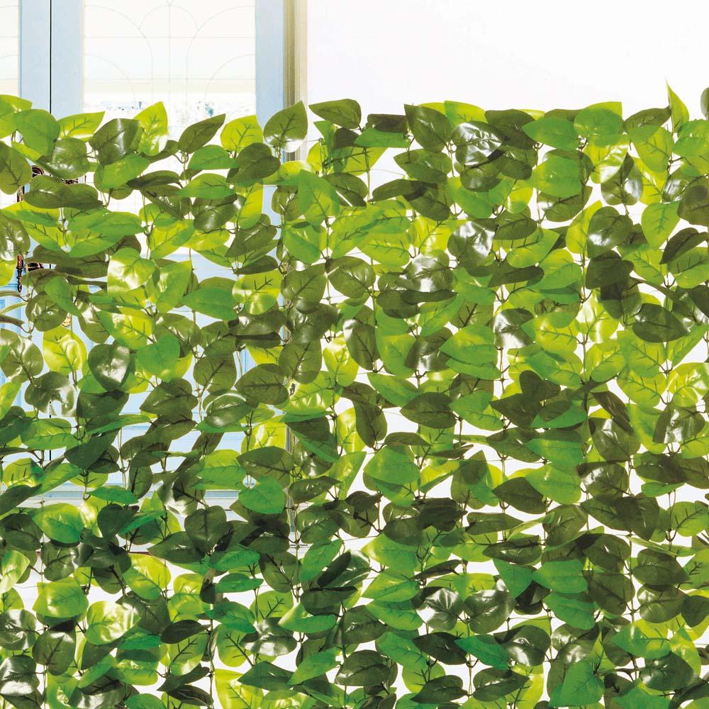 コーナン オリジナル 日よけ 目隠し ソフトガーデンフェンス ミックスグリーン 約100×100cm