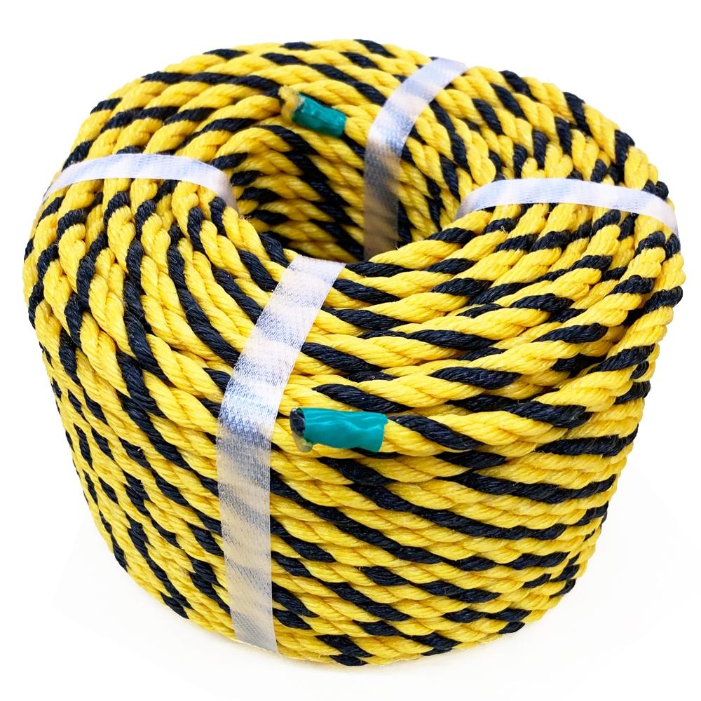 コーナン オリジナル 標識ロープ#9 約7mm×50M イエロー/ブラック