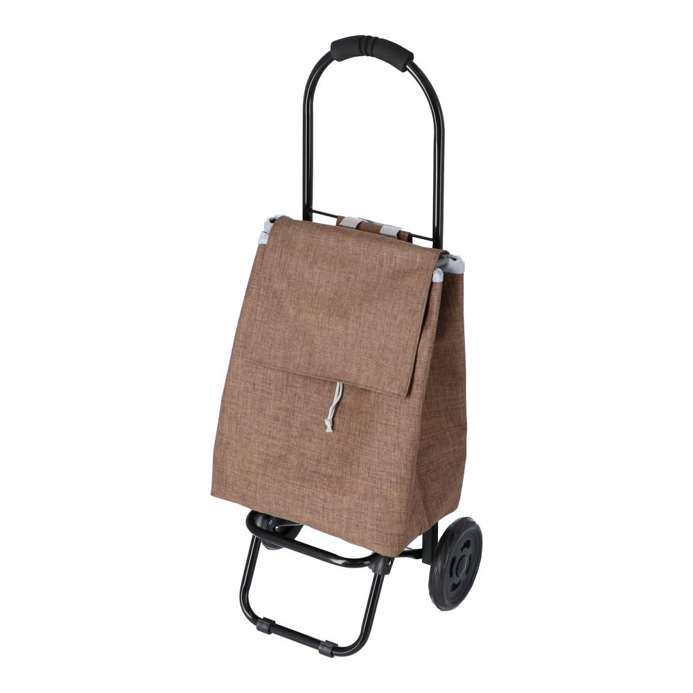 コーナン オリジナル LIFELEX(ライフレックス) ショッピングカート ブラウン JS21−6866