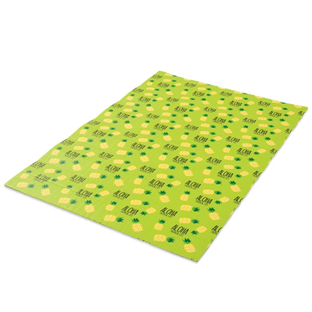 コーナン オリジナル アロハパイナップル 折畳アルミマット L グリーン 厚5mmX幅1200X長さ1800mm