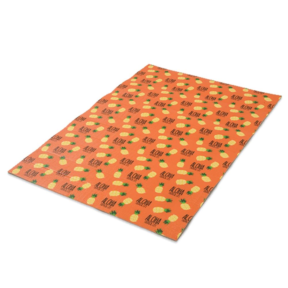 コーナン オリジナル アロハパイナップル 折畳アルミマット L オレンジ 厚5mmX幅1200X長さ1800mm