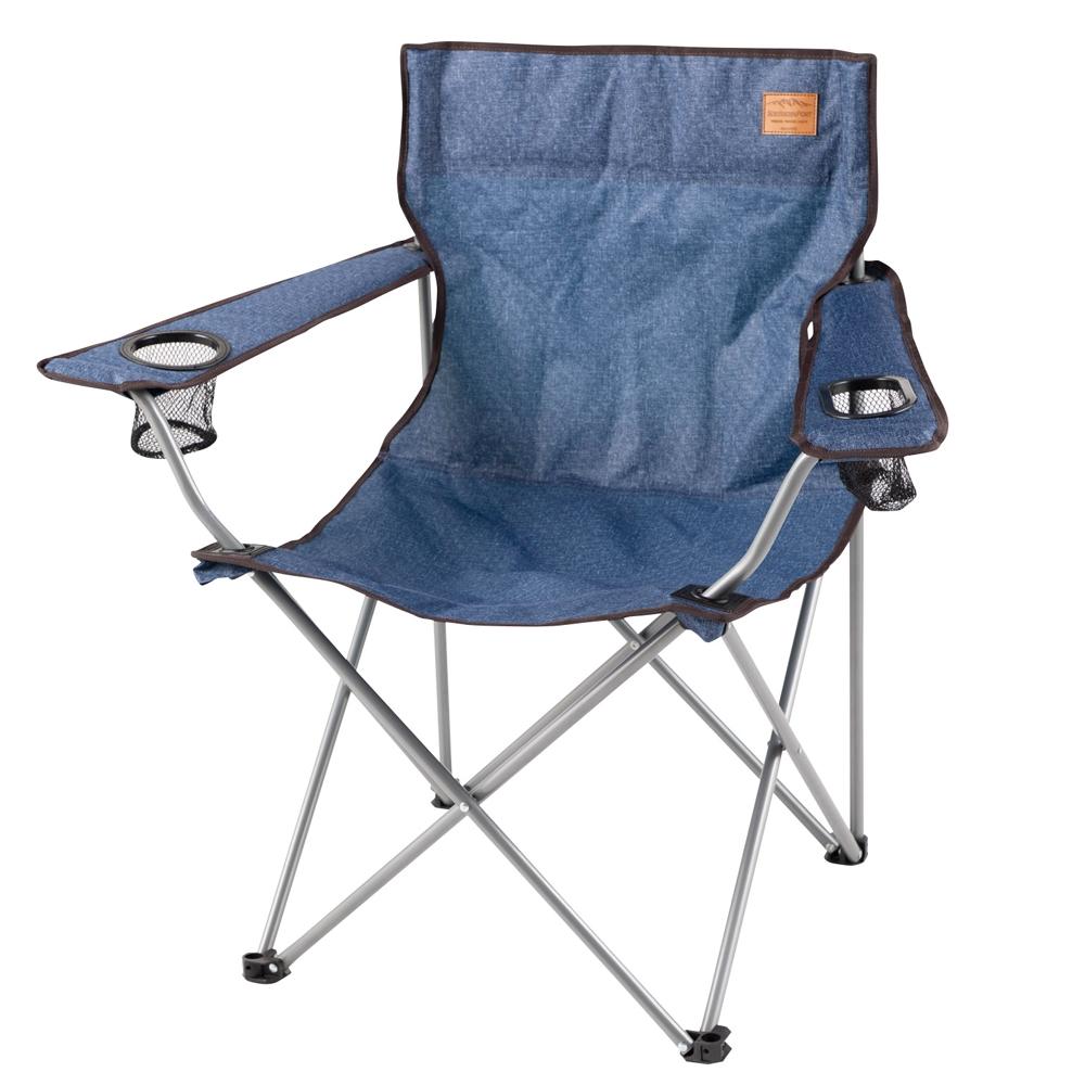 コーナン オリジナル 折畳式 コンパクトアームチェア ブルー 幅82X奥行50X高さ80cm 耐荷重:80kg