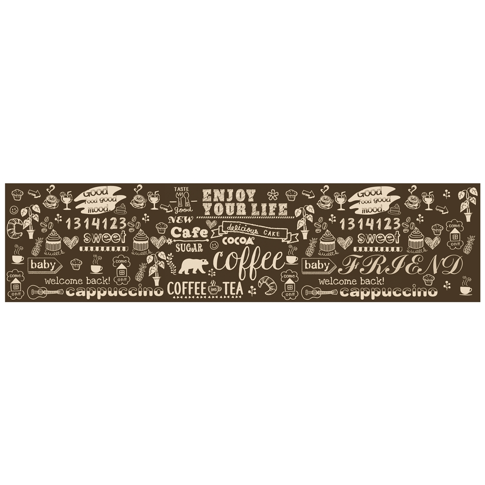 コーナン オリジナル PVCキッチンマット 約45×180cm 英文字