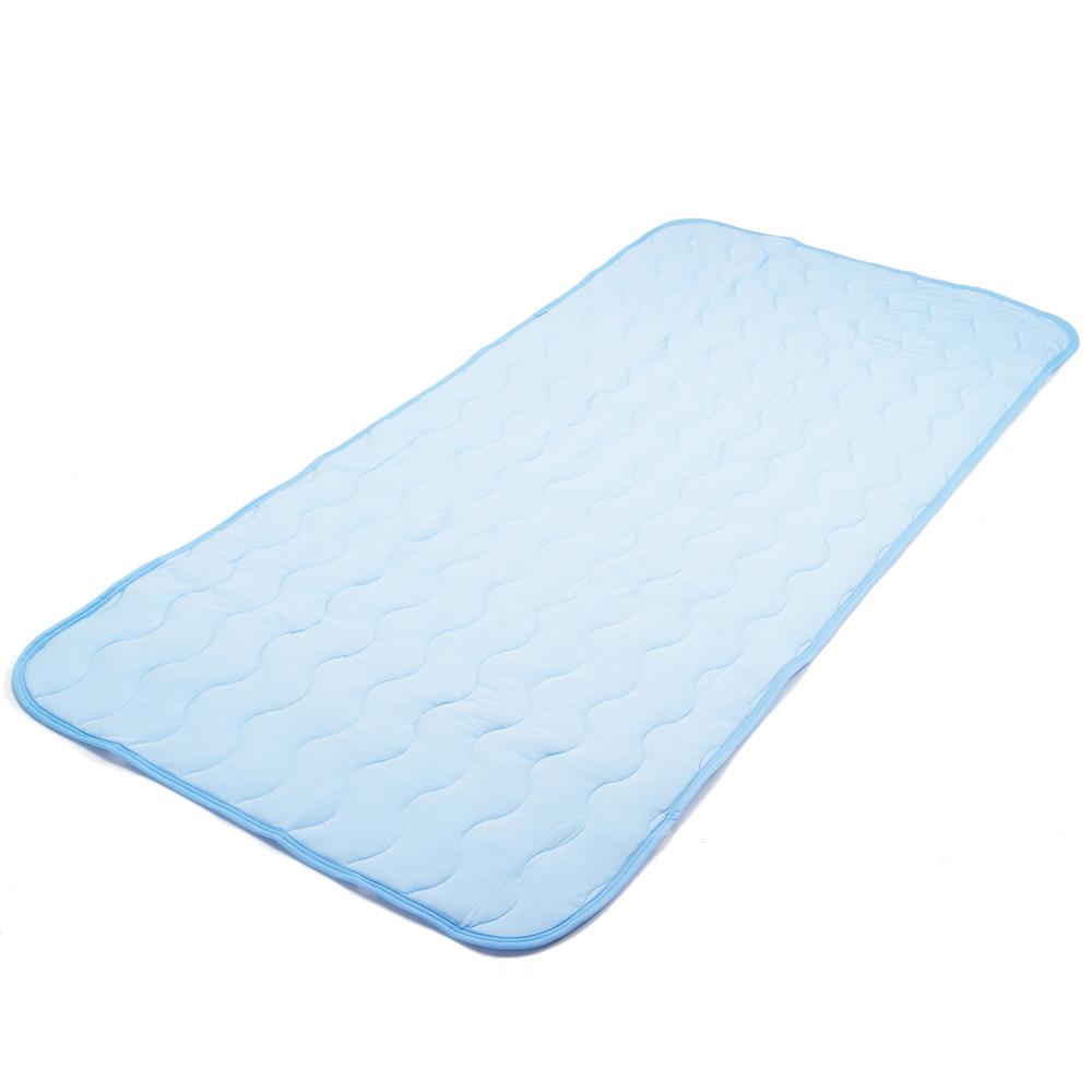 コーナン オリジナル ひんやり敷パッド 約120×205cm セミダブル ブルー リバーシブル