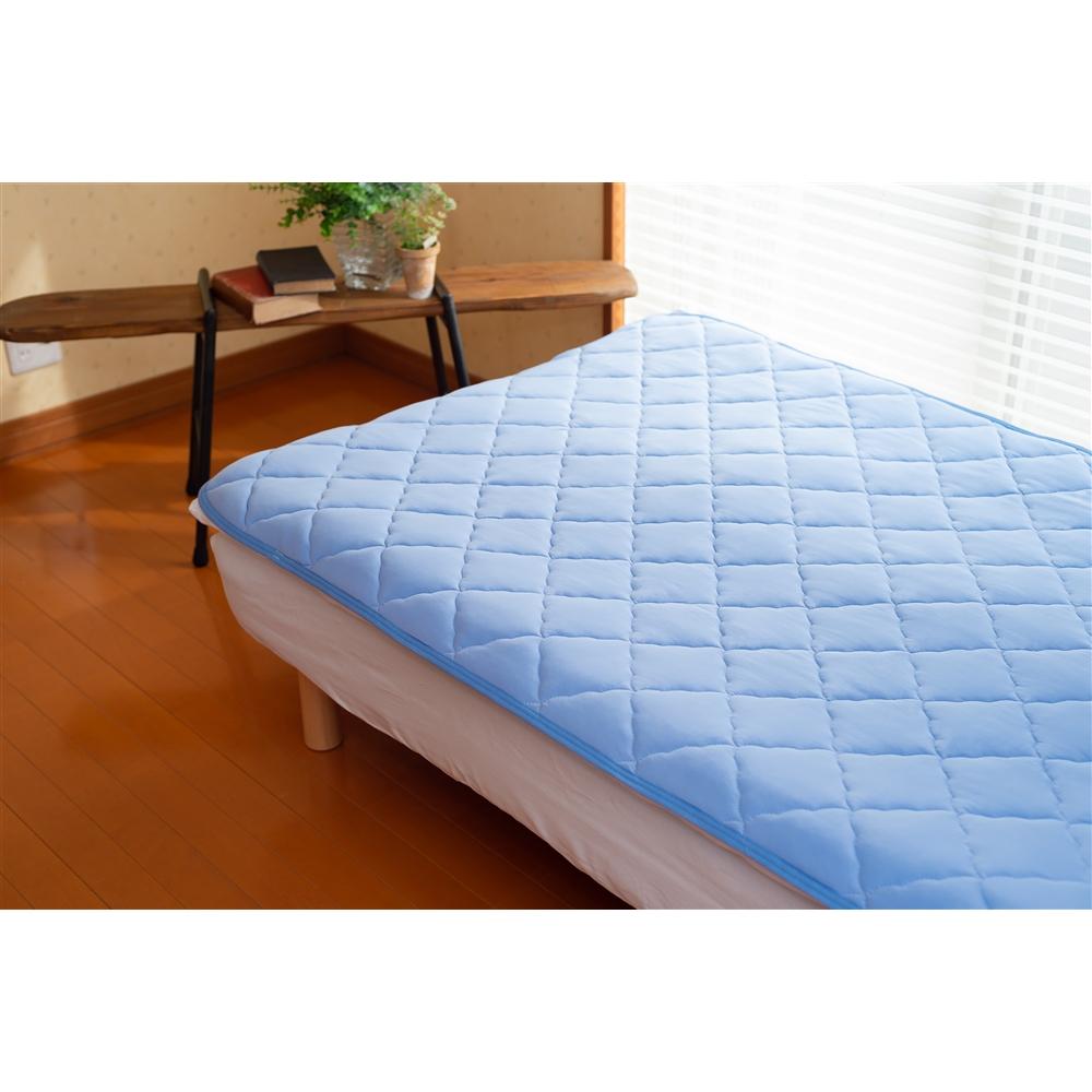 コーナン オリジナル 吸水速乾冷感敷パッド 約140×205cm ブルー
