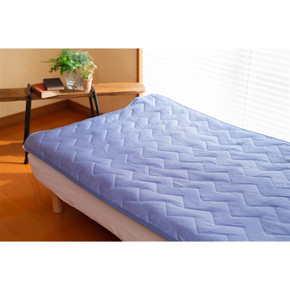 コーナン オリジナル 持続冷感敷パッド 約100×205cm ブルー