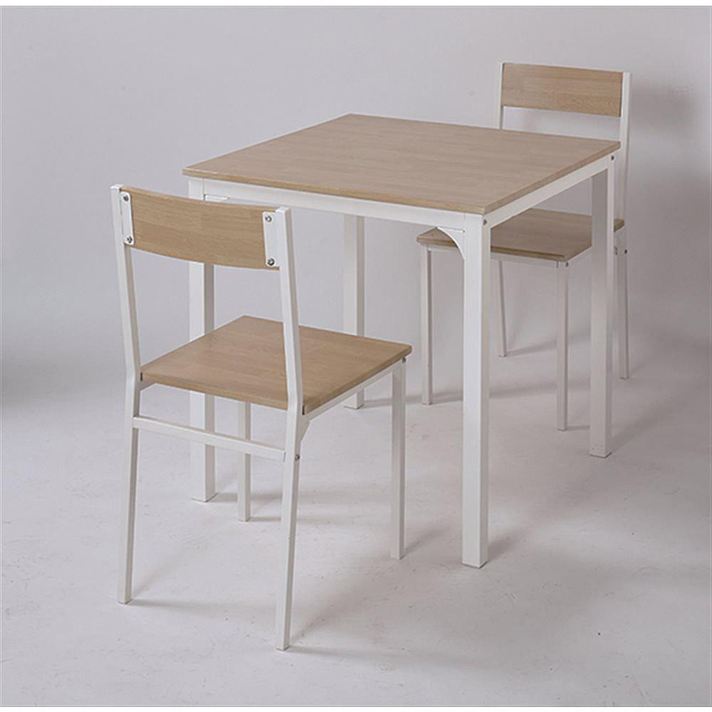 2人掛け用テーブル&チェア3点セット NA/WH